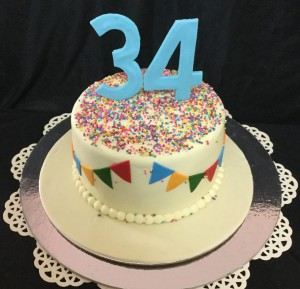 Colorful 34th Birthday Cake 1 kg