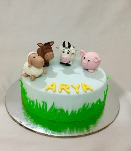 Arya's farm animals Cake- 1kg