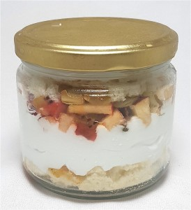 Fruit Vanilla Cake in Jar- 2 jars