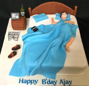 Birthday Cake- Sleeping in Bed Cake - 1 kg