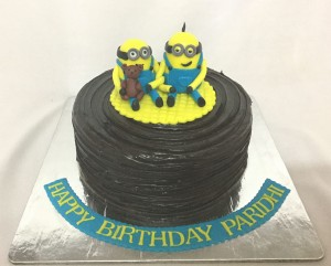 Chocolate Minion Birthday cake