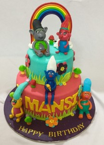 Trolls themed Cake 2kgs