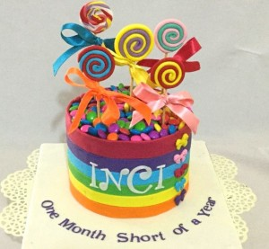 Colourful Inci Cake 1kg
