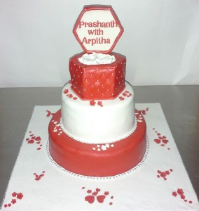 Customized Engagement Ring Cake