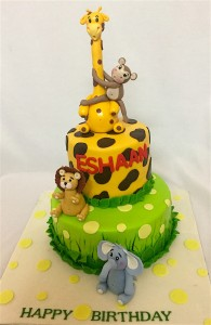 Cute Animal Theme Cake
