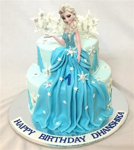 1st Birthday Elsa Frozen theme Cake