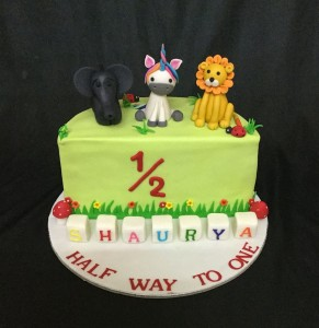 Animals themed Half Birthday Cake 1kg