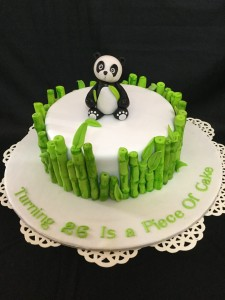 Turning 26 Birthday Cake panda theme