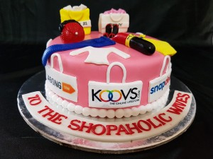 Customized Shopoholic Birthday Cake