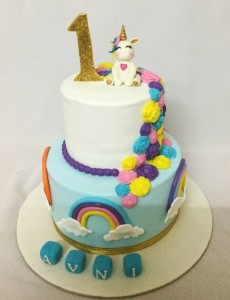 1st Birthday Designer Unicorn Cake