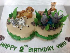 Chillout Madagascar Birthday Cake