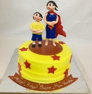 Supermom themed cake 1.5kg