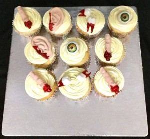 Dexter themed cupcakes - set of 10