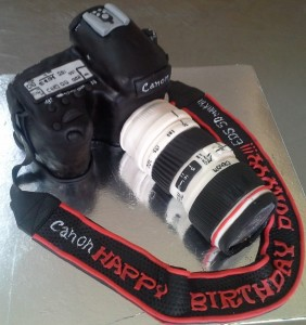 SLR Camera  Customized Birthday Cake