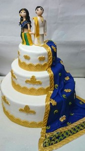 Elegant Indian wedding cake 6kgs