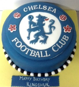 Chelsea Club Football Cake - 1 kg