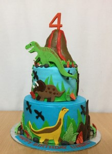 4th Birthday Cake Dinosaur theme