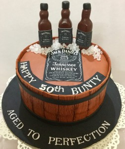 50th Birthday Jack Daniels Cake