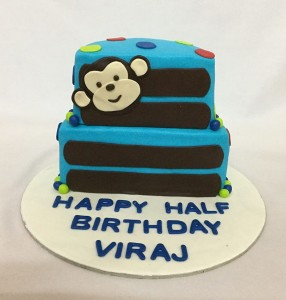 Half Birthday Cake Monkey theme