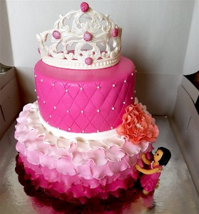 2 Tier Tiara Birthday Cake