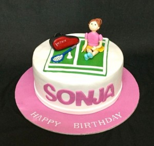Sonja's Tennis theme Birthday Cake
