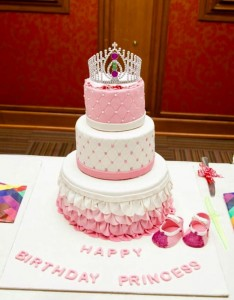 Beautiful Birthday 3 Tier Tiara Cake