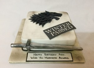 Birthday Cake- GOT Winter has Passed