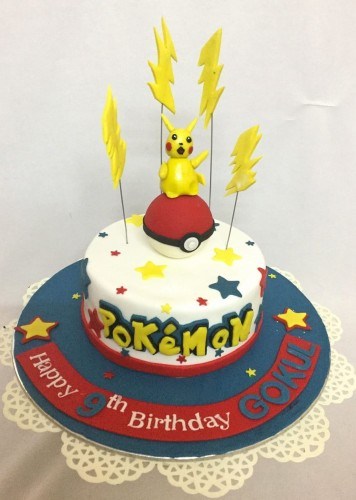 Surprising Online Pokemon Theme Birthday Cake Customised Cakes Delivered In Personalised Birthday Cards Bromeletsinfo