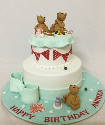 Cute Teddy bear Birthday cakeJPG