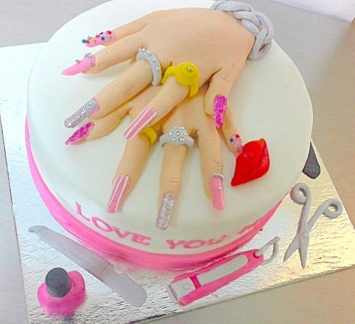 Gorgeous Hands Birthday Cake 1.5 Kg Rs 3600.jpg