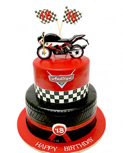 18th Birthday Bike theme Cake.jpg