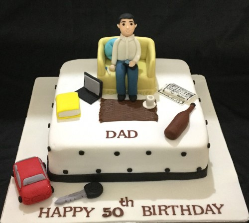 50th Birthday Office Ideas: Online Customized Cakes Delivery I Bangalore L Theme Cakes