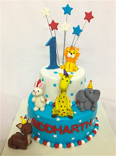 1st Birthday Animal Theme Siddarth Cake.JPG