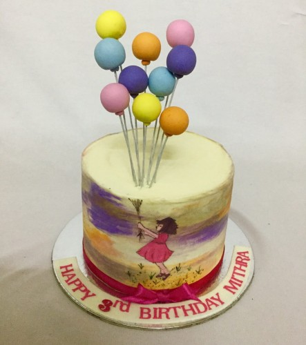 Girl holding balloon- Buttercream Birthday cake.jpg