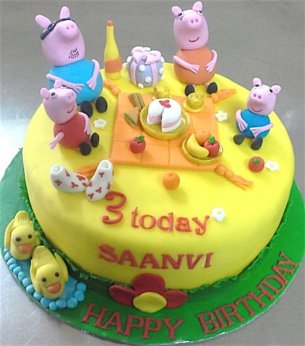 Pleasing Online Peppa Pig Theme Birthday Cakes For Kids Order Online For Personalised Birthday Cards Paralily Jamesorg