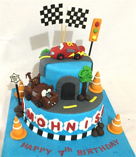 Excellent Online Customized Birthday Cakes Order Carz Theme Birthday Cake Personalised Birthday Cards Epsylily Jamesorg