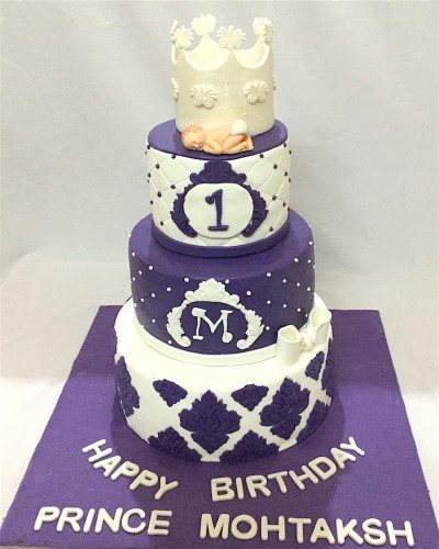 3 Tier Royal Crown Birthday Cake.JPG