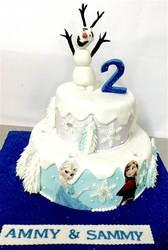 2nd Birthday Frozen Cake.jpeg