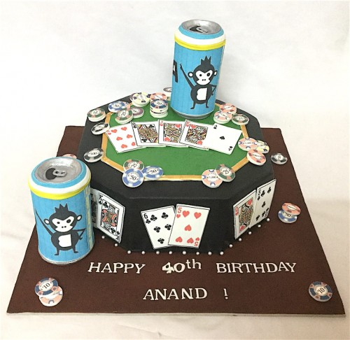 40th Birthday Cake Anand 1.5 Kg Rs 3000.JPG