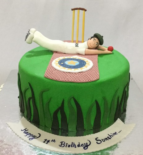 11th Birthday Cake Cricket theme Cake.jpeg
