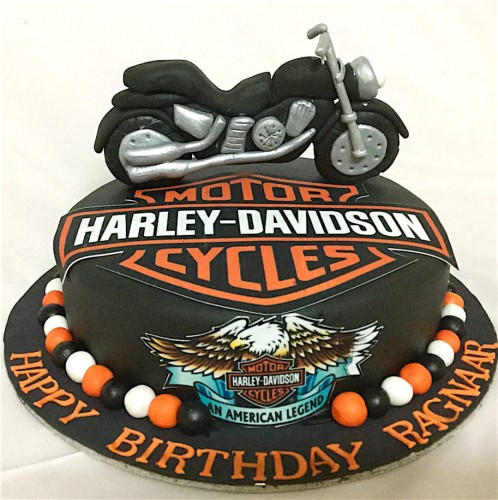 Custom Birthday Cake Born To Ride Harley Bike.jpeg